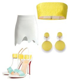 """""""Yellow"""" by jaylap11 on Polyvore featuring Mary Katrantzou, Christian Louboutin and Chicwish"""