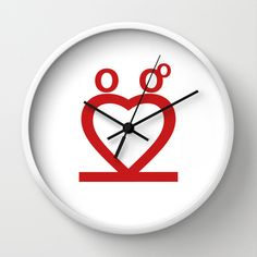 Two Love Wall Clock by Shu - $30.00