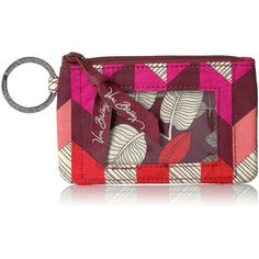 Vera Bradley Zip ID Card Case ($12) ❤ liked on Polyvore featuring bags, wallets, vera bradley wallet, snap closure wallet, vera bradley bags, zipper bag and card carrier wallet