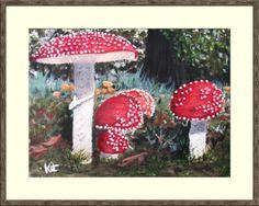 Magic Mushrooms. Domino Art, Artwork Display, Acrylic Art, Canvas Frame, Mushrooms, Kit, Christmas Ornaments, Holiday Decor, Magic