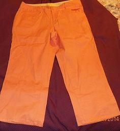Womens Venezia Capris Size 18 (Orange) #N in Clothing, Shoes & Accessories | eBay