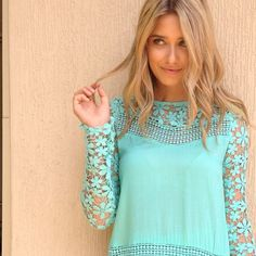 The amazing mint runaway tunic is available now at SaboSkirt.com #saboskirt @caitlynpaterson