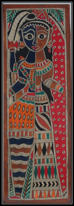Original Madhubani Painting. Original Ethnic Painting. by Artikrti