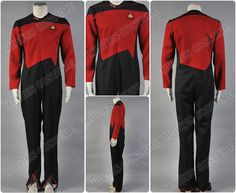 Command Uniform Red Jumpsuit costume for Star Trek Cosplay