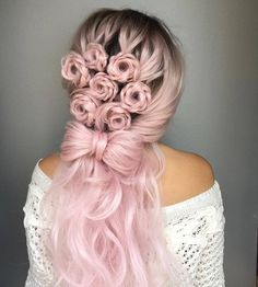 These rose braid hairstyles will make you want to ditch your computer, pick up a tambourine, and become a flower child.