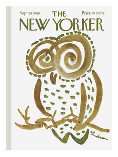 owl cover of The New Yorker by Abe Birnbaum