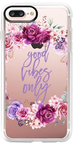 Casetify iPhone 7 Plus Classic Grip Case - Good Vibes Only Watercolor Floral Peony by Ruby Ridge Studios #Casetify