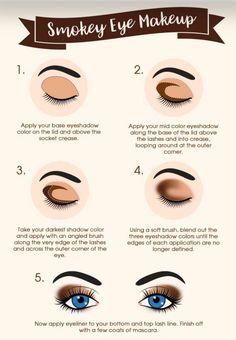 Eye Makeup Tips.Smokey Eye Makeup Tips - For a Catchy and Impressive Look Makeup Guide, Eye Makeup Tips, Eyeshadow Makeup, Beauty Makeup, Makeup Ideas, Makeup Tutorials, Makeup Brushes, Runway Makeup, Makeup Geek