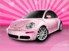 It is pink....what else can I say?  Hello Kitty car -