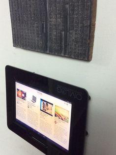 Nexus 10 black acrylic wall mount enclosure.   www.posincloud.com Nexus 10, Tablet Mount, Black Acrylics, Kiosk, Wall Mount, Display, Frame, Decor, Floor Space