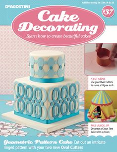 In this weeks issue of #CakeDecorating magazine, we show you how to make a filigree arch using your  two  #FREE oval cutters. Plus we show you how to decorate a #CircusTentCake with clown.