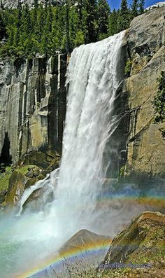 Vernal Falls... Yosemite. California.~~~~♡ U. S. A.