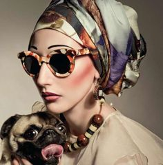 ISSON SUNNIES, A PUG AND A GUINEA PIG.     Love that NECKLACE, the scarf, and of…