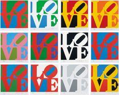 Robert Indiana Pop Art Figurative Print: The Book Of Love Suite 1996 Pop Art, Indiana Love, Twelfth Night, Galleries In London, School Art Projects, Australian Art, Indigenous Art, Art Moderne, Elements Of Art