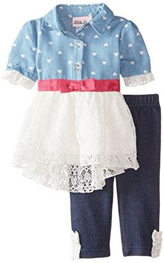 Little Lass Baby-Girls Newborn 2 Piece Legging Set Printed Lace, Chambray, 6-9 Months Little Lass http://www.amazon.com/dp/B00VIG7C2E/ref=cm_sw_r_pi_dp_uSl8vb0WXAKJH