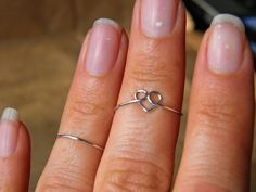 Two rings Heart ring plus a stack ring. Midi by PeggysPassions, $9.00