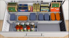 Film Inner dividing systems ORGA-LINE for open provisions and spices (combo pull-out)