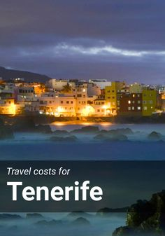 Travel costs for Tenerife