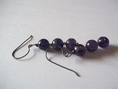Purple Mist. Amethyst Sterling Silver by georgieandjetdesigns, $32.00