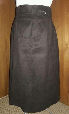 Brown ELIE TAHARI Skirt Maxi Suede Cloth Size US 10 below the knee #ElieTahari #Maxi