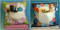 Pillow pockets Pocket Pattern, Cute Pattern, Kids Pillows, Cute Pillows, Cute Baby Shower Gifts, Pillow Tutorial, Christmas Pillow, Mug Rugs, Quilted Pillow