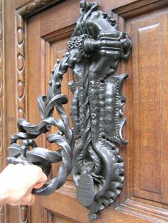 Elaborate 'Casa Calvet' knocker by Gaudi