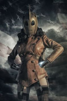 metal canvas Characters rocketeer cosplay comic photography