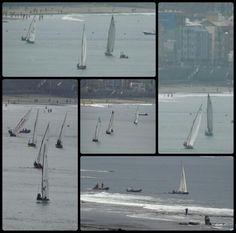 Campeonato de barquillos de  vela Latina en la playa de Las Canteras, Bahía de El Confital. 15/11/15. Las Palmas de Gran Canaria. Canarias. 5f