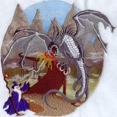 Fire Breathing Dragon Vs Wizard - emblibrary.com