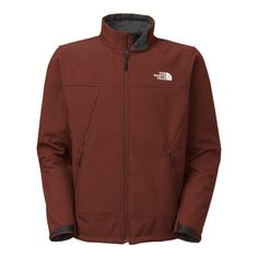 The North Face Apex Chromium Thermal Soft Shell Jacket - Medium/Sequoia Red-Sequoia Red. Heather: 97% Polyester, 3% Elastane with High-Pile Fleece Backer. DWR Finish. Secure-Zip Hand Pockets. Velcro Adjustable Cuff Tabs. Hem Cinch-Cord.