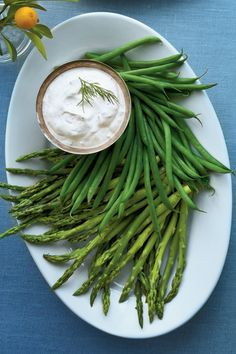 Easter Appetizers: Herbed Dip with Baby Vegetables
