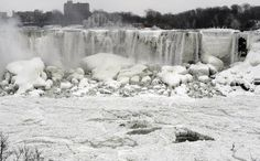 Frozen Niagra Falls Jan 8 2014   The Muslim Times