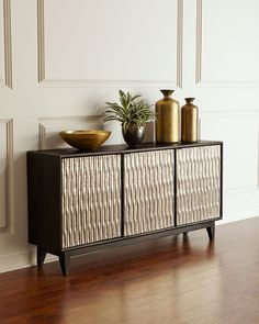 Shop Shimmer Three-Door Entertainment Console from Hooker Furniture at Horchow, where you'll find new lower shipping on hundreds of home furnishings and gifts. Hooker Furniture, New Furniture, Luxury Furniture, Furniture Design, Furniture Layout, Metal Furniture, Furniture Projects, Outdoor Furniture, Consoles