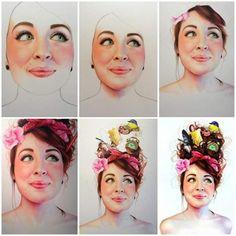 Illustrations par Morgan Davidson : Portraits Réalistes aux Crayons de Couleurs
