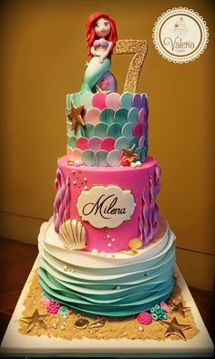 Little mermaid cake / Torta Sirenita