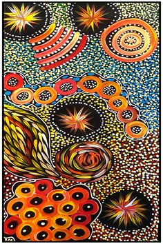 Amazing Australian Aboriginal Artwork by Janet Golder Kngwarreye / Women's Dreaming is the title of the painting. Aboriginal Artwork, Doodle Art, Art Images, Earthy, Abstract Art, Corals, Amazing, Nature, Artist
