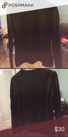 100% Cashmere by Apt 9 in Black. Pullover. Like new Sweaters Crew & Scoop Necks
