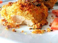 Pollo alla senape con panatura e fichi secchi
