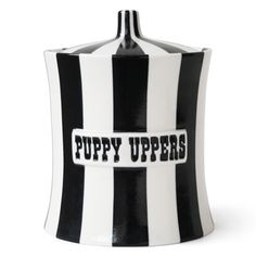 Modern Pottery | Puppy Uppers Decorative Ceramic Canister | Jonathan Adler - definitely want this on my counter!