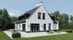 39 Trendy House Exterior Design Bungalows Dream Homes House Siding, Facade House, Exterior House Colors, Exterior Design, Bungalow Extensions, Dutch House, Best House Plans, House Entrance, House Layouts