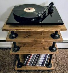 Hifi Stand, Audio Stand, Hifi Rack, Audio Rack, Calgary, Mc Intosh, Record Player Stand, Vinyl Record Storage, Home Studio Music