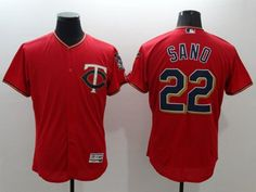 95fdf40a485 Twins #22 Miguel Sano Red Flexbase Authentic Collection Stitched MLB Jersey  Mlb Twins, Minnesota