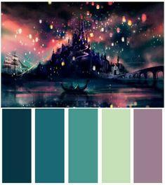 """""""The Lights"""" alternative color scheme Color Schemes Colour Palettes, Paint Color Schemes, Colour Pallette, Color Combos, Galaxy Colors, Design Palette, Interior Paint Colors, Design Seeds, Color Theory"""