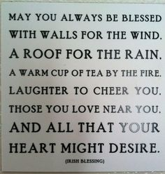 irish blessing - quote