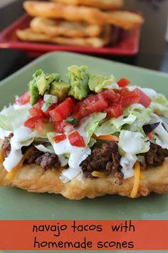 Navajo Tacos with Homemade Scones
