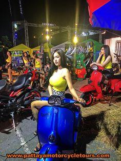 Model with scooter Pattaya Thailand 2018 marco lebel Vespa Bike, Lambretta Scooter, Vespa Scooters, Bicycle, Jakarta, Italian Scooter, Chicks On Bikes, Scooter Design, Khao Lak