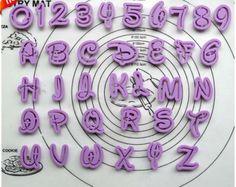 36PCS Fondant Cake Decoration Tools Disney Font Alphabet Cutter number Letters cutter set