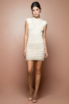 Pinus Vintage Crochet Dress - Vanessa Montoro USA - vanessamontorolojausa