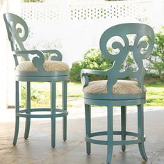 Somerset Bay Carmel Swivel Stool - ridiculous price for a barstool, but I love the pop of color. Might need to re-create : )
