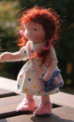 Bendy dollhouse doll waldorf style 45 by ElineDolls on Etsy